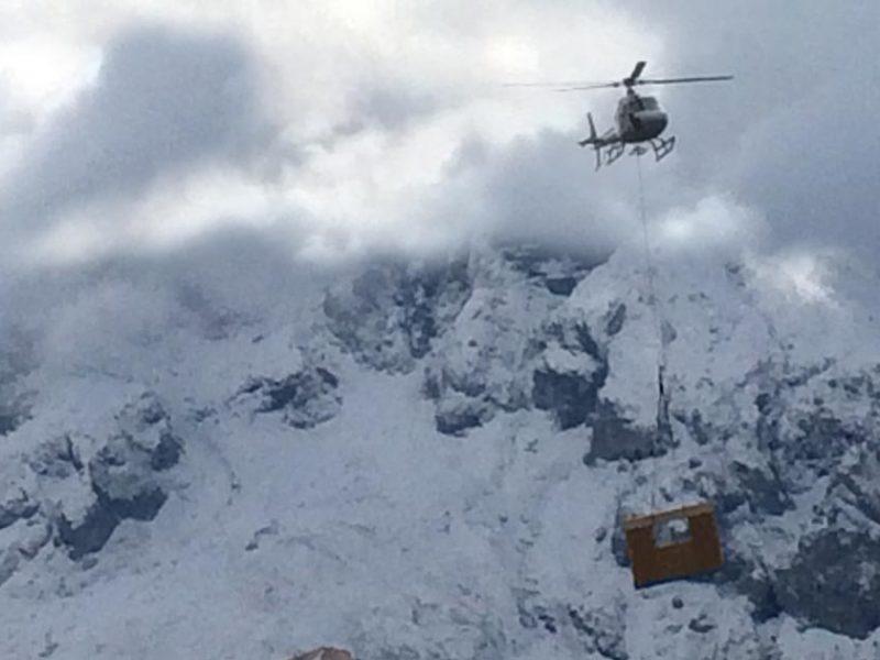 Montaggio in elicottero Woodbau