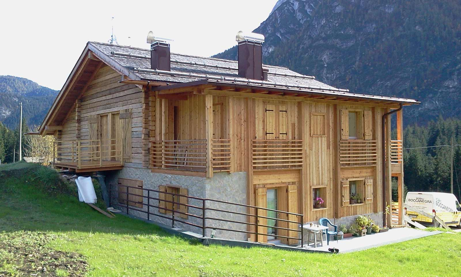 Rivestimento Casa In Legno legno e pietra | woodbau