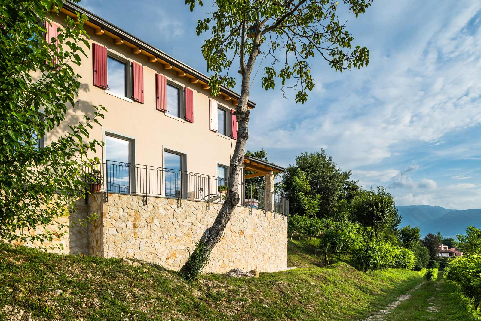 Casa in collina a Vittorio Veneto Woodbau Longarone