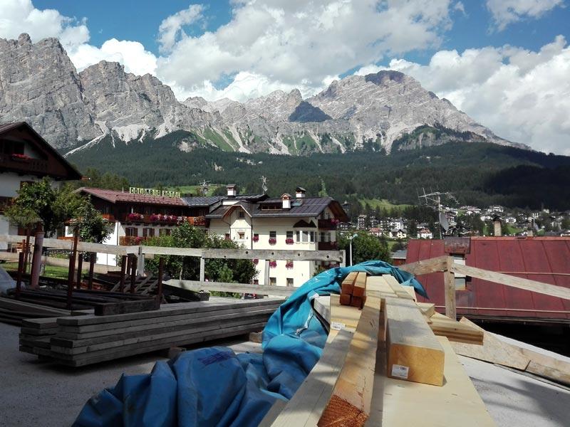 Recupero vecchio fienile a Cortina d'Ampezzo Woodbau