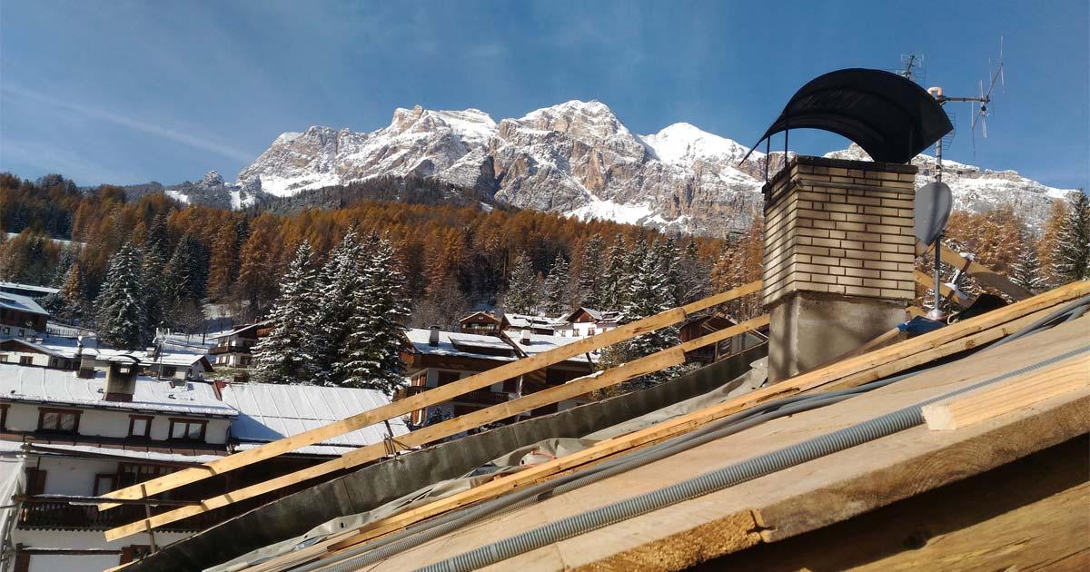 Tetto in legno Woodbau a Cortina d'Ampezzo