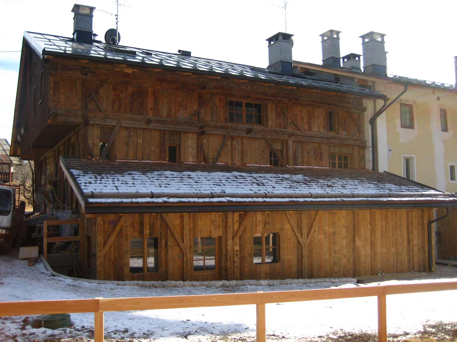 Ampliamento a Cortina d'Ampezzo Woodbau Longarone