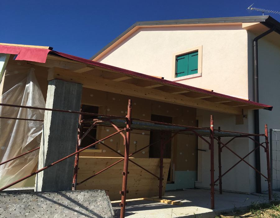 Ampliamento casa in legno - Woodbau case in legno Longarone Belluno